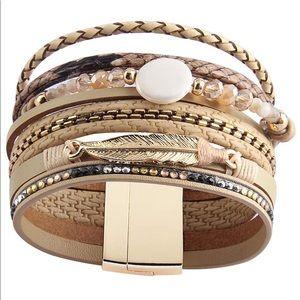 Jewelry - 🎀 Boho Leather Bracelet 🎀